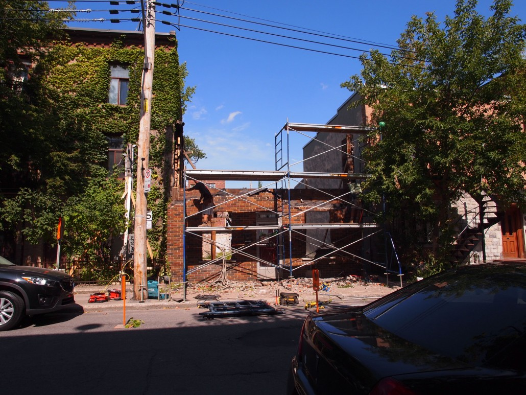 demolition duplex Plateau-Mont-Royal