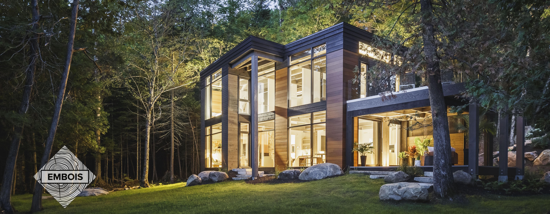 maison en poutre de bois