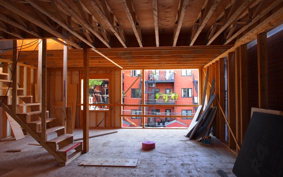 Construction en cours dans Villeray