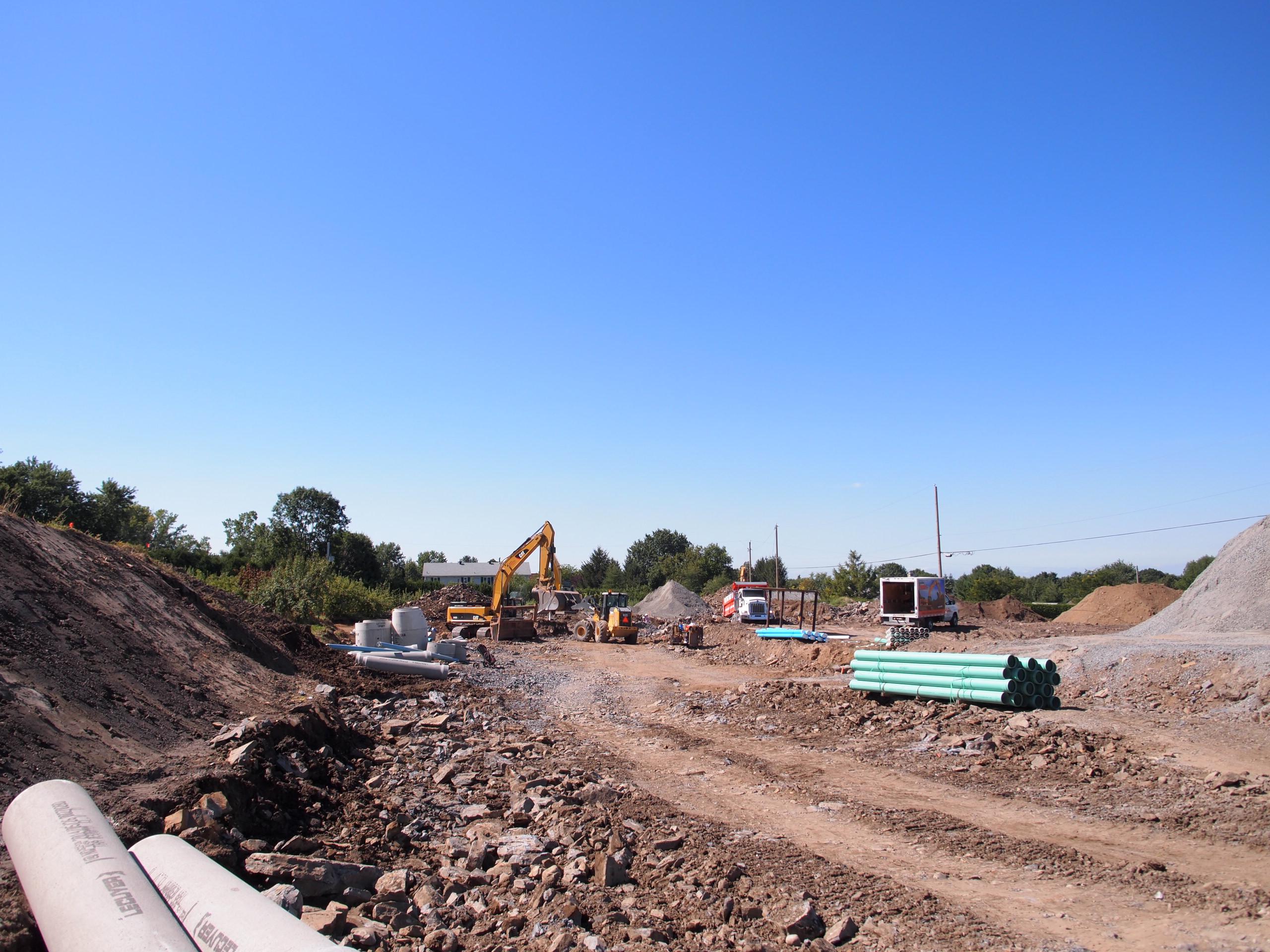 construction d'une nouvelle rue à OtterburnPark