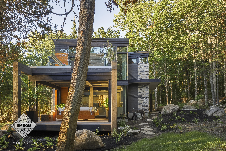 Maison charpente de bois
